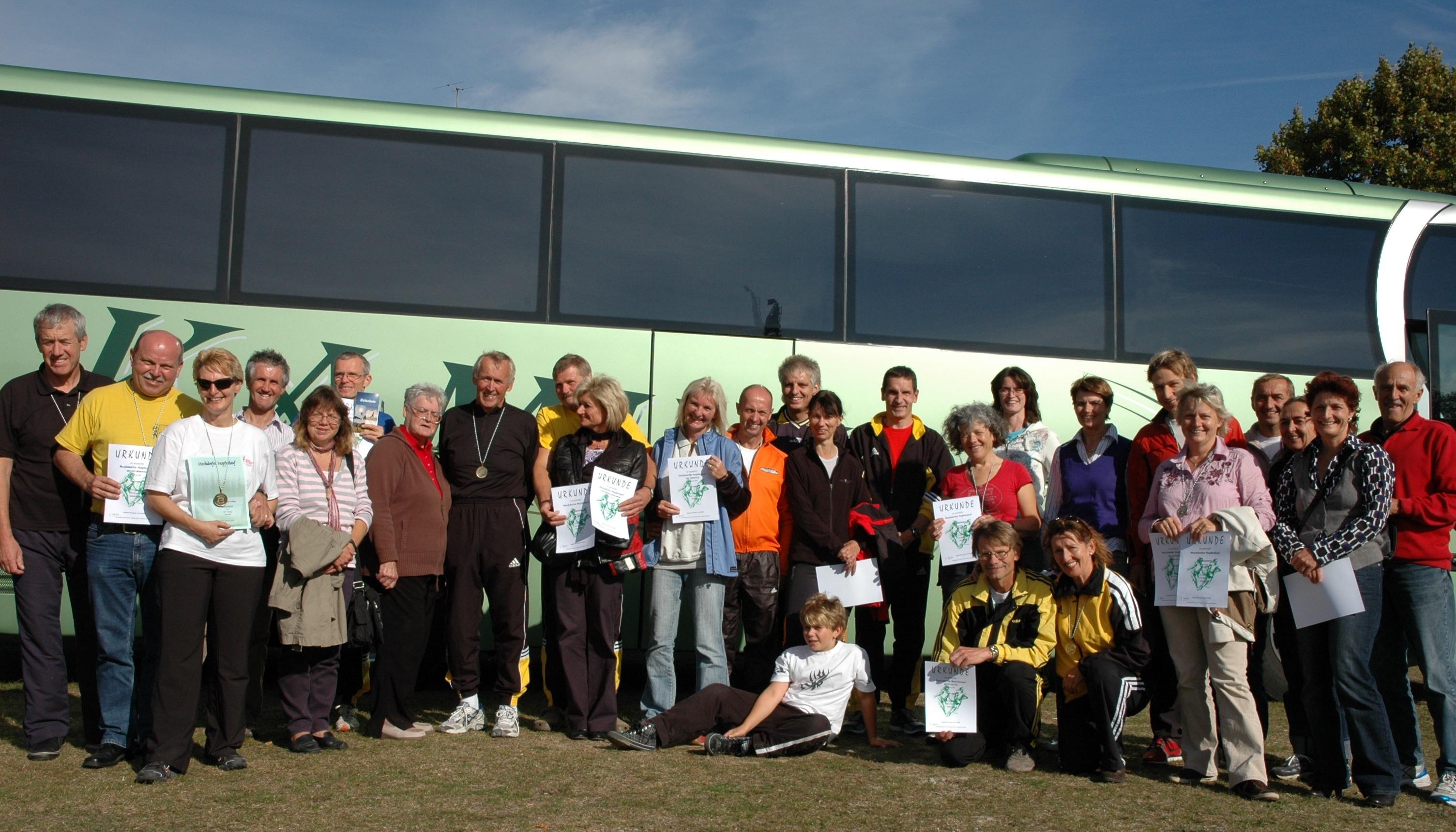 Alle Teilnehmer des Ausfluges, frisch geduscht...